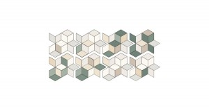 11,5 x 20 CM MUTINA TEX RUNNER WHITE + OLIVE & CREAM