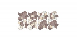 11,5 x 20 CM MUTINA TEX RUNNER BROWN + CREAM & WHITE