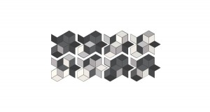 11,5 x 20 CM MUTINA TEX RUNNER BLACK + GREY & WHITE